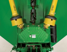 Five-year limited gearbox warranty provided on every John Deere rotary cutter